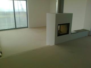 Stěrka Murexin v obývacím pokoji