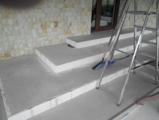 Stěrkování schodů