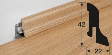 Meister lišty pro laminátové podlahy - Profil 1MK