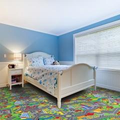 Koberec do dětského pokoje Smart city